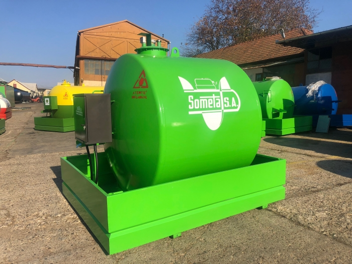 Rezervor suprateran 5000 litri cu pompa  ST BOX - verde 3