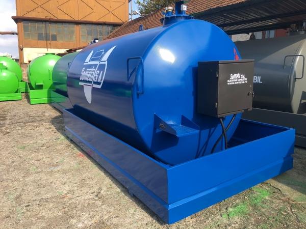 Rezervor suprateran 9000 litri cu pompa ST BOX - albastru 0