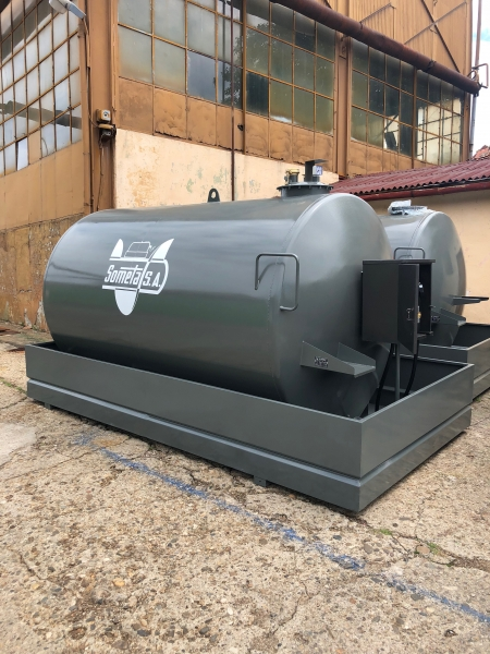 Rezervor suprateran 9000 litri cu pompa ST BOX - gri 0